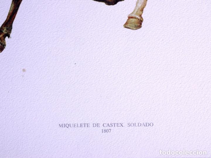 Arte: LÁMINAS MILITARES ESPAÑOLES. MIQUELETE. 1807 - Foto 2 - 176283945
