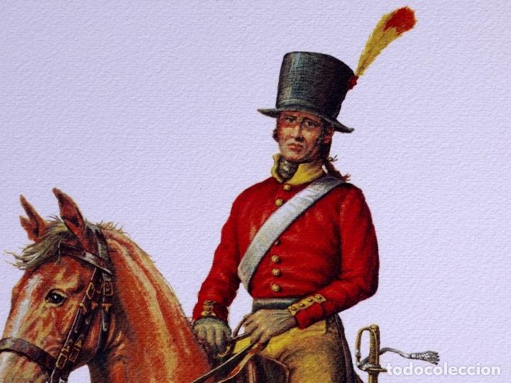 Arte: LÁMINAS MILITARES ESPAÑOLES. MIQUELETE. 1807 - Foto 3 - 176283945