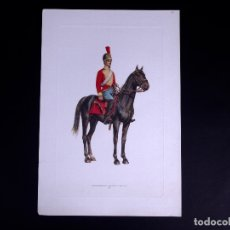 Arte: LÁMINAS MILITARES ESPAÑOLES. CARABINEROS. 1807. Lote 176284152