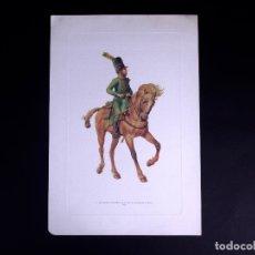 Arte: LÁMINAS MILITARES ESPAÑOLES. 3ER ESCUADRON HUSARES DE NUÑEZ. 1807. Lote 176284273