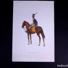 Arte: LÁMINAS MILITARES ESPAÑOLES. 2º ESCUADRON HUSARES DE VIVAS. 1807. Lote 176284313