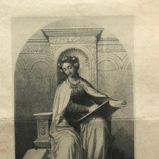 Arte: LITOGRAFÍA MUSA DE LA LITERATURA SXIX. Lote 176288299