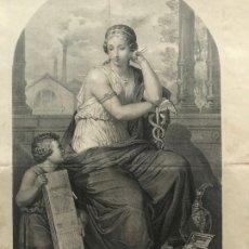 Arte: LITOGRAFÍA MUSA DE LA INDUSTRIA SXIX. Lote 176288724