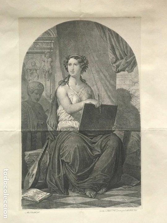 LITOGRAFÍA MUSA DE LAS ARTES SXIX (Arte - Litografías)