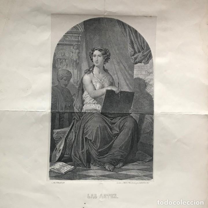 Arte: LITOGRAFÍA MUSA DE LAS ARTES SXIX - Foto 2 - 176289164