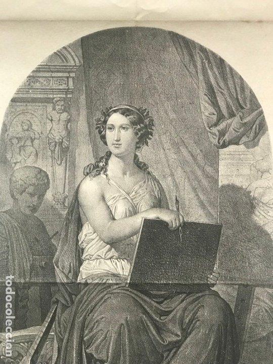 Arte: LITOGRAFÍA MUSA DE LAS ARTES SXIX - Foto 3 - 176289164