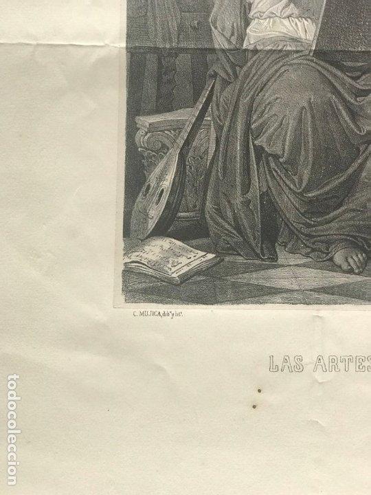 Arte: LITOGRAFÍA MUSA DE LAS ARTES SXIX - Foto 4 - 176289164