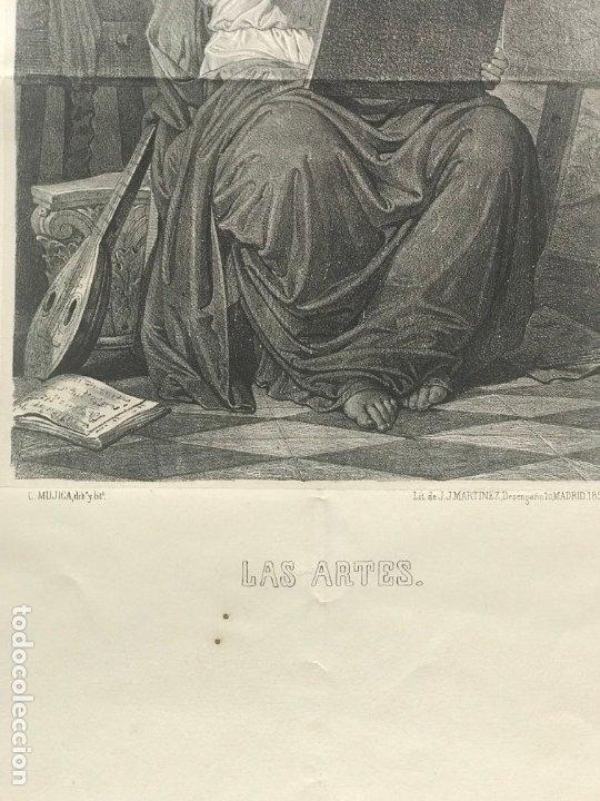 Arte: LITOGRAFÍA MUSA DE LAS ARTES SXIX - Foto 5 - 176289164