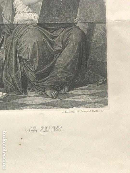 Arte: LITOGRAFÍA MUSA DE LAS ARTES SXIX - Foto 6 - 176289164