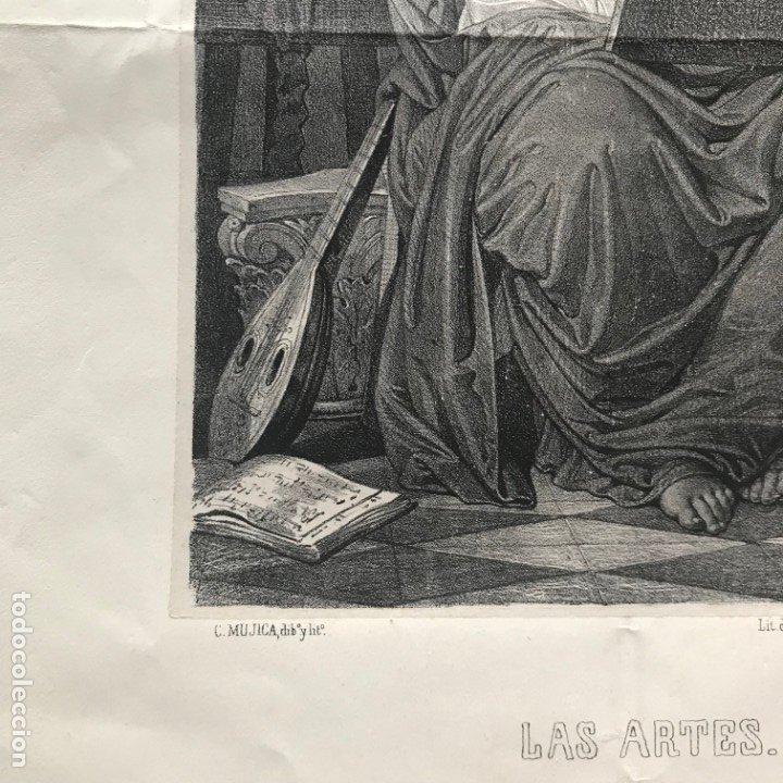 Arte: LITOGRAFÍA MUSA DE LAS ARTES SXIX - Foto 7 - 176289164