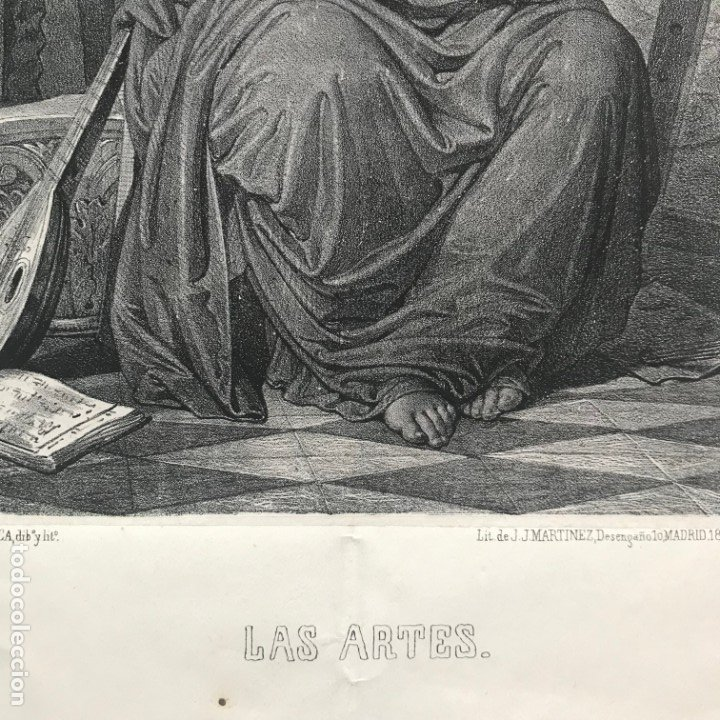 Arte: LITOGRAFÍA MUSA DE LAS ARTES SXIX - Foto 8 - 176289164