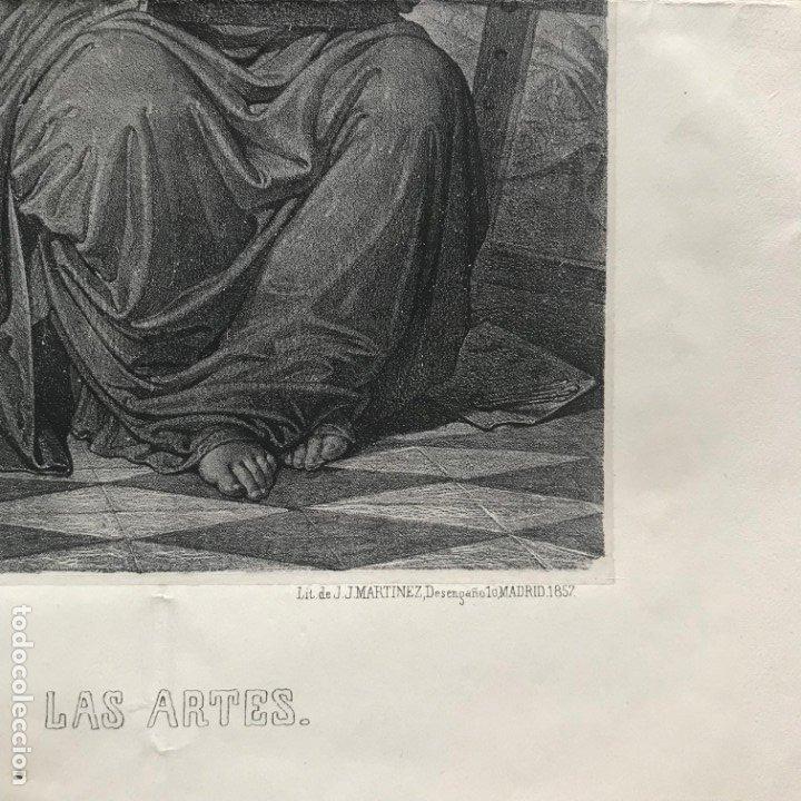 Arte: LITOGRAFÍA MUSA DE LAS ARTES SXIX - Foto 9 - 176289164