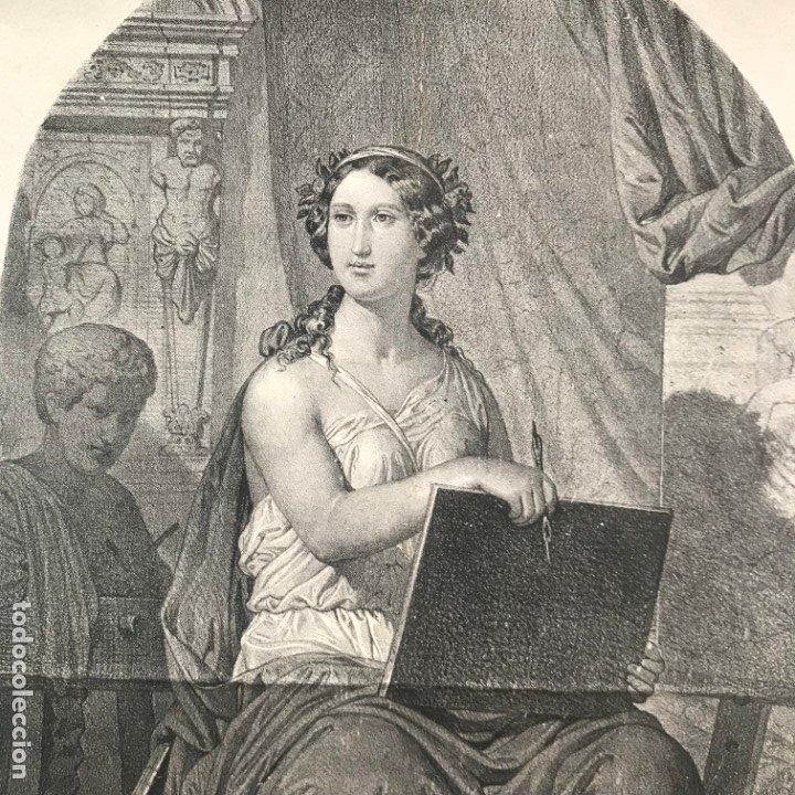 Arte: LITOGRAFÍA MUSA DE LAS ARTES SXIX - Foto 10 - 176289164