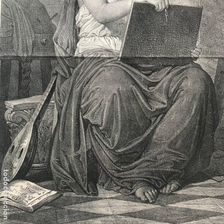 Arte: LITOGRAFÍA MUSA DE LAS ARTES SXIX - Foto 12 - 176289164
