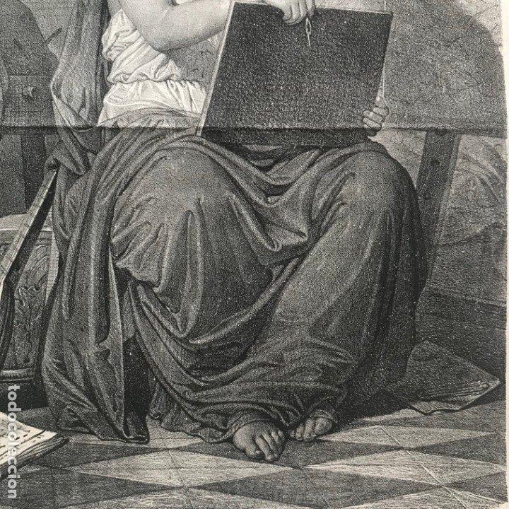 Arte: LITOGRAFÍA MUSA DE LAS ARTES SXIX - Foto 13 - 176289164