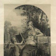 Arte: LITOGRAFÍA MUSA DE LA CIENCIA SXIX. Lote 176290359