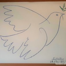 Arte: PABLO PICASSO (DESPUES) PALOMA AZUL . Lote 176304032
