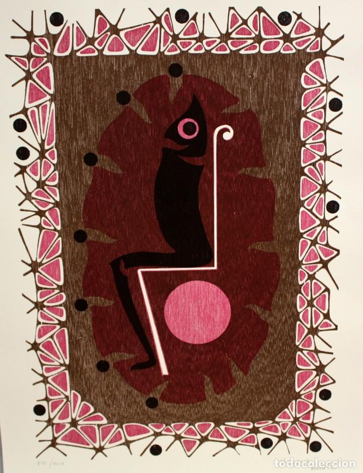 MOISES VILLELIA (BARCELONA, 1928 - 1994) LITOGRAFIA ORIGINAL FIRMADA A LÁPIZ. TIRAJE: XVI/XCIX (Arte - Litografías)