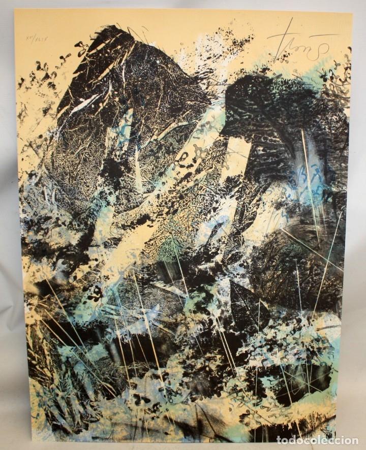 Arte: JOAN JOSEP THARRATS (Gerona, 1918 - Bcn, 2001) LITOGRAFIA ORIGINAL FIRMADA A LÁPIZ. TIRAJE: XVI/XCIX - Foto 2 - 176648342