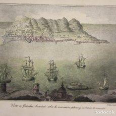 Arte: LITOGRAFIA VISTA DE GIBRALTAR. CIRCA 1825. Lote 176657355