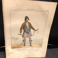 Arte: LITOGRAFIA COLOREADA ESQUILADOR DE MOTRIL. GRANADA. SIGLO XIX. Lote 176739512