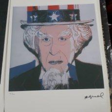 Arte: LITOGRAFIA DE ANDY WARHOL,TIO SAM,NUMERADO A LAPIZ,CON FIRMA Y MARCA DE AGUA,57X38 CMS. Lote 182949203