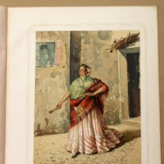 Arte: CROMOLITOGRAFIA MUGER DEL PUEBLO. PROVINCIA DE SEVILLA. AÑO 1873. Lote 176901980