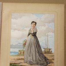 Arte: CROMOLITOGRAFIA LABRADORA DE LOS ALREDEDORES DE PALMA DE MALLORCA. ISLAS BALEARES. AÑO 1873. Lote 176903154