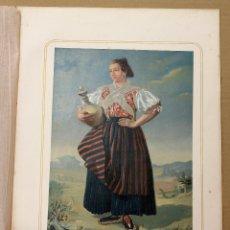 Arte: CROMOLITOGRAFIA MUJER DE HELLIN. MANCHA ALTA. PROVINCIA DE ALBACETE. AÑO 1873. Lote 176904412