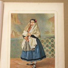 Arte: CROMOLITOGRAFIA MUJER DE PROVINCIA DE JAEN. AÑO 1873. Lote 176905552
