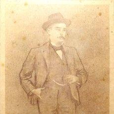 Arte: RETRATO DE CABALLERO. LITOGRAFÍA. DE UN ORIGINAL DE R. CASAS. ESPAÑA. XIX-XX. Lote 176916015