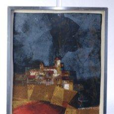 Arte: ALVAR SUÑOL (1935) LITOGRAFÍA E.A VISTA DE PUEBLO FIRMADO A LÁPIZ. Lote 176973537
