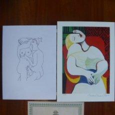 Arte: EL SABOR DE LA FELICIDAD PICASSO LITOGRAFÍA ERÓTICA NUMERADA MÁS EL SUEÑO-THE DREAM- DOMAINE PICASSO. Lote 177071960