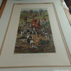 Arte: IMPRESION DE LITOGRAFIA EAS DOUGLAS DE ENCUBIERTO A ENCUBIERTO 1909. Lote 177120844