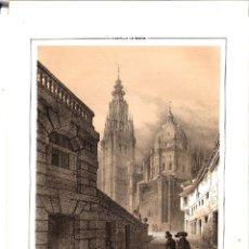 Arte: LITOGRAFIA CATEDRAL DE TOLEDO. SIGLO XIX. Lote 177483163