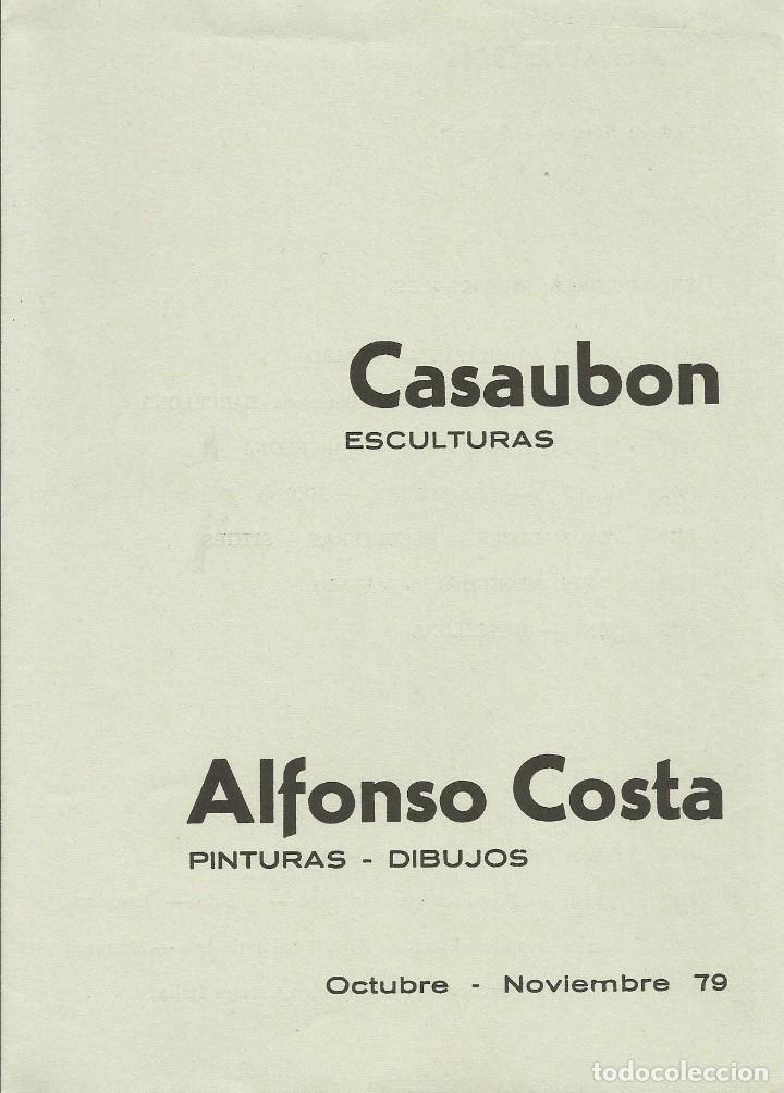 Arte: Alfonso Costa Beiro y Pascual Casaubon. Litografía numerada 340/500. Firmada a mano. 1979. 21x15 cm - Foto 3 - 184658777