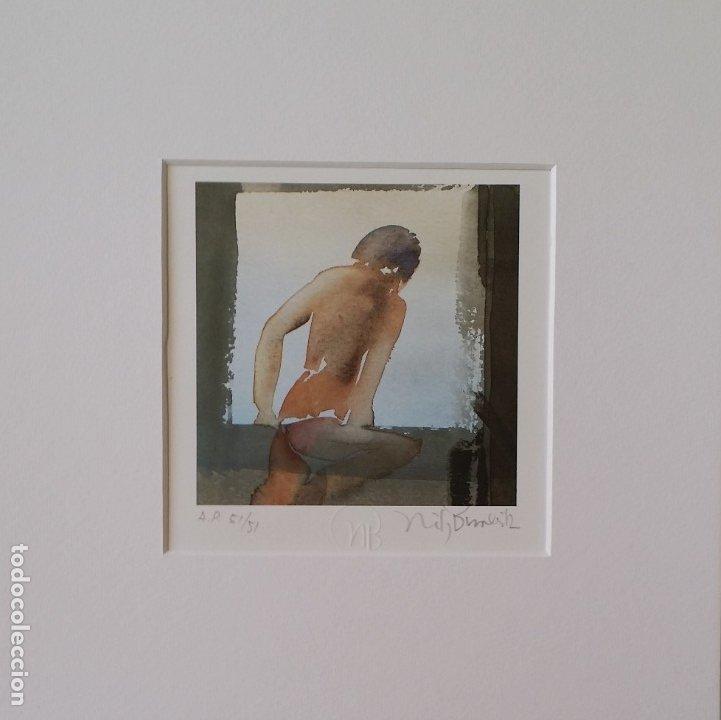 Arte: Nils Burwitz, litografía firmada, numerada y enmarcada en caja - Foto 2 - 177787377