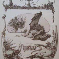 Arte: PETER RUMP, LA BELLA Y LA BESTIA, LITOGRAFIA SURREALISTA DE 1980. Lote 177876624