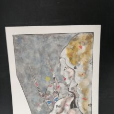 Arte: OSWALDO AULÉSTIA BACH. LITOGRAFÍA P.D.A. PERSONAJES. Lote 177879585