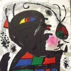 Arte: JOAN MIRÓ. LITOGRAFÍA ORIGINAL Nº V. EN BUEN ESTADO. 32X25 CM. POLÍGRAFA. 1977.. Lote 178112777