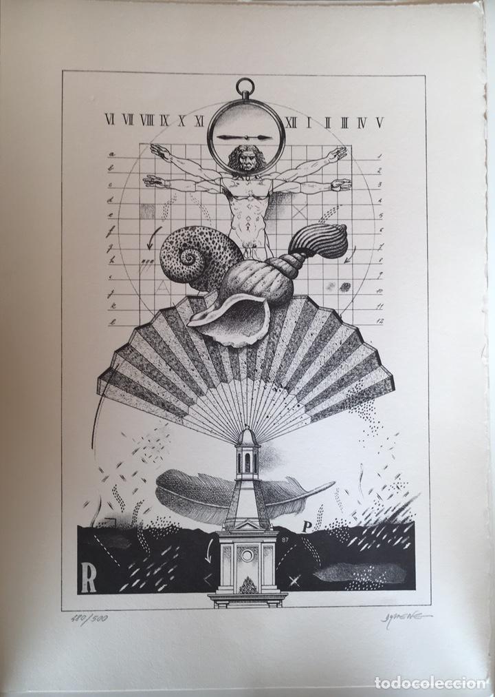 LITOGRAFÍA KIM DOMENE, NUMERADA Y FIRMADA (Arte - Litografías)
