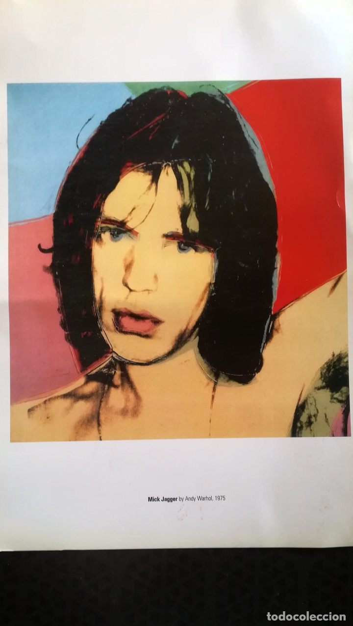 Arte: Lamina de - Mick Jagger - De Andy Warholl, 1975 - Editada por Fundacion Bancaixa Tamaño 48,5 x 34 cm - Foto 2 - 178250296