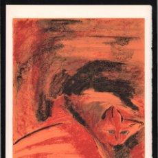 Arte: MARÍA JOSÉ LÓPEZ Y LÓPEZ GATO 1 LITOGRAFÍA ORIGINAL FIRMADA Y NUMERADA LAPÍZ 1 /100 CIUDAD REAL 1951. Lote 178572642