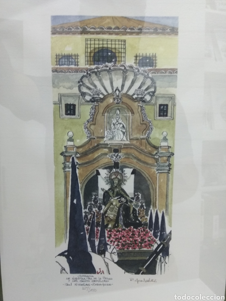 Arte: COFRADIA DE NUESTRA SRA DE LA PIEDAD Y DEL SANTO SEPULCRO SAN NICOLAS ZARAGOZA P. GONZALEZ NUMERADA - Foto 6 - 178601441