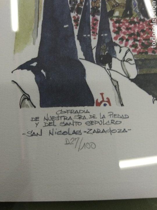 Arte: COFRADIA DE NUESTRA SRA DE LA PIEDAD Y DEL SANTO SEPULCRO SAN NICOLAS ZARAGOZA P. GONZALEZ NUMERADA - Foto 2 - 178601441