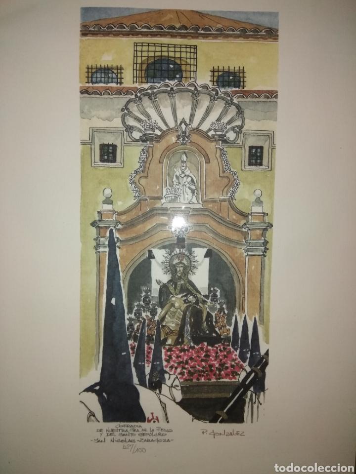Arte: COFRADIA DE NUESTRA SRA DE LA PIEDAD Y DEL SANTO SEPULCRO SAN NICOLAS ZARAGOZA P. GONZALEZ NUMERADA - Foto 5 - 178601441