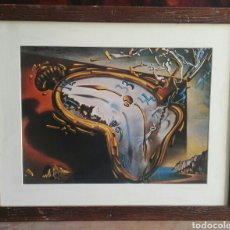 Arte: SALVADOR DALÍ SOFT WATCH AT THE MOMENT OF ITS FIRST EXPLOSION LAMINA ENMARCADA 40X50. Lote 178938082