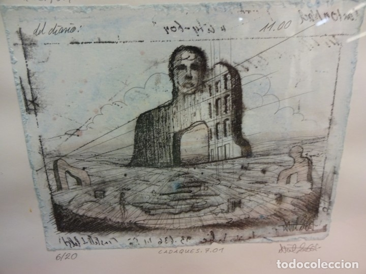 INTERESANTE LITOGRAFIA DE ARTE CONTEMPORÁNEO. NUMERADA 6/20. FIRMADA POR EL ARTISTA. 16 X 12 CTMS (Arte - Litografías)
