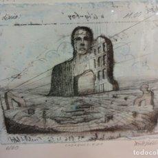 Arte: INTERESANTE LITOGRAFIA DE ARTE CONTEMPORÁNEO. NUMERADA 6/20. FIRMADA POR EL ARTISTA. 16 X 12 CTMS. Lote 178956867