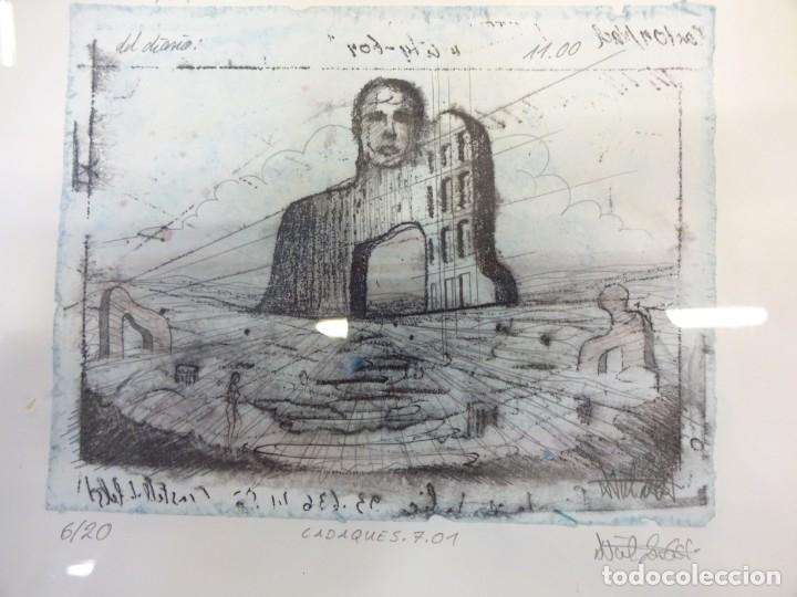 Arte: Interesante litografia de arte contemporáneo. Numerada 6/20. Firmada por el artista. 16 x 12 ctms - Foto 3 - 178956867